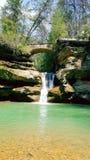 Montes hocking da cachoeira fotografia de stock