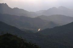 Montes mergulhados Foto de Stock