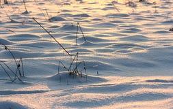 Montes na neve imagem de stock