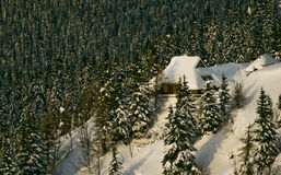 Montes nevado Fotografia de Stock Royalty Free