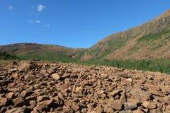 Montes rochosos de Brown com inclinações dos seixos Foto de Stock Royalty Free