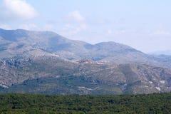 Montes sobre Dubrovnik Imagem de Stock Royalty Free