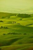 Montes verdes de Toscânia Fotos de Stock