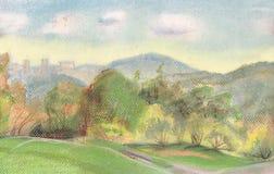 Montes verdes ilustração do vetor