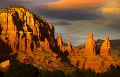 Montes vermelhos da rocha em Sedona Imagem de Stock Royalty Free