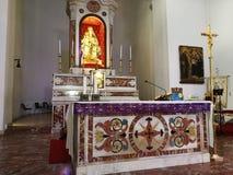 Montesarchio - altare della chiesa del delle Grazie di Santa Maria Fotografia Stock Libera da Diritti