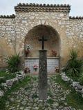 Montesarchio - altare della chiesa di Longobard Fotografia Stock