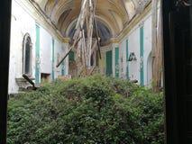 Montesarchio - smula kyrkan av den obefläckade befruktningen arkivfoton