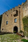 Montesquiu kasztel w Ripoll, Catalonia, Hiszpania fotografia royalty free