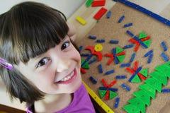 Montessori难题。 幼稚园。 免版税库存照片
