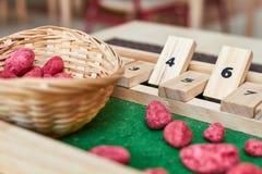 Montessori-Abakus für die Zählung stockbilder