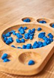 Montessori-Abakus für die Zählung lizenzfreie stockfotografie