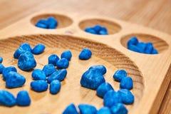 Montessori-Abakus für die Zählung lizenzfreie stockbilder