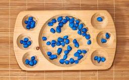 Montessori-Abakus für die Zählung stockbild