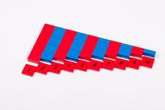 Montessori comptant Rods Images stock