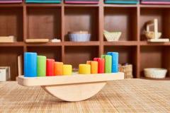 Montessori drewniana skala zdjęcia royalty free