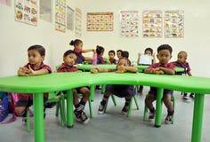 Montessori/förträningsgrupp Royaltyfri Fotografi