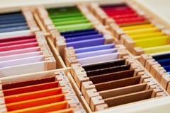 Montessori-Farbkasten 3 lizenzfreie stockfotos