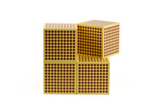 Montessori Golden Beads - 1000 cube Stock Photography