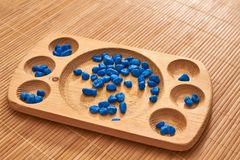 Montessori kulram för att räkna royaltyfria bilder