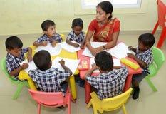 MONTESSORI/PRE SCHOOL CLASS Stock Photo