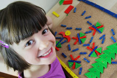 Montessori pussel. Förskole-. Royaltyfria Foton