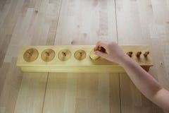 Montessori pussel. Förträning. royaltyfri bild