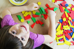 Montessori Puzzle. Preschool. Stock Photo