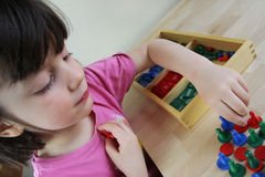 Montessori puzzle. Preschool. royalty free stock photography
