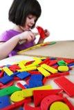 Montessori Puzzlespiel. Vorschule. Lizenzfreie Stockfotos
