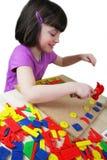 Montessori Puzzlespiel. Vorschule. Lizenzfreies Stockfoto
