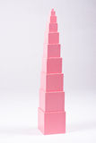 Montessori rosa färgtorn Royaltyfri Bild