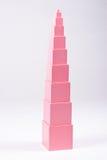 Montessori Roze Toren royalty-vrije stock afbeelding