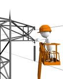 Monteurs de lignes électriques Photo stock