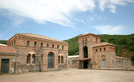 Montevecchio矿 古斯皮尼(撒丁岛-意大利) 免版税库存图片
