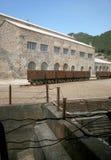 Montevecchio kopalnia Guspini Sardinia, Włochy (-) Zdjęcie Royalty Free