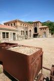 Montevecchio kopalnia Guspini Sardinia, Włochy (-) Fotografia Royalty Free