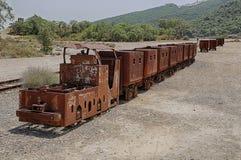 Montevecchio Mine. Old train at an abandoned mine in Sardinia, Guspini, Montevecchio royalty free stock photos