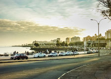 Montevideo Beach Uban View Royalty Free Stock Photo