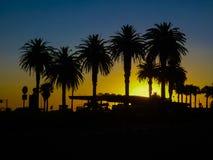 Montevideo Boardwalk Scene at Sunset Stock Image