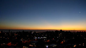 Montevideo City Sunset Stock Photography