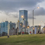 Montevideo Cityscape Scene at Twilight Royalty Free Stock Photo