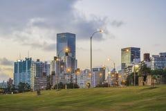 Montevideo Cityscape Scene at Twilight Royalty Free Stock Photos