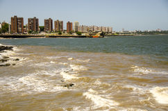 MONTEVIDEO COASTLINE Royalty Free Stock Photos