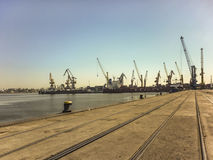 Montevideo Commercial Port Stock Images