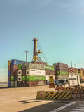 Montevideo Commercial Port Royalty Free Stock Images