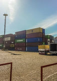 Montevideo Commercial Port Royalty Free Stock Photo