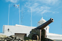 Montevideo fortress. And military museum with old canons Stock Photography