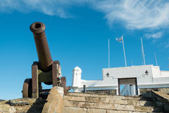 Montevideo fortress. And military museum with old canons Stock Images