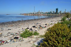 Montevideo garbage Royalty Free Stock Photography